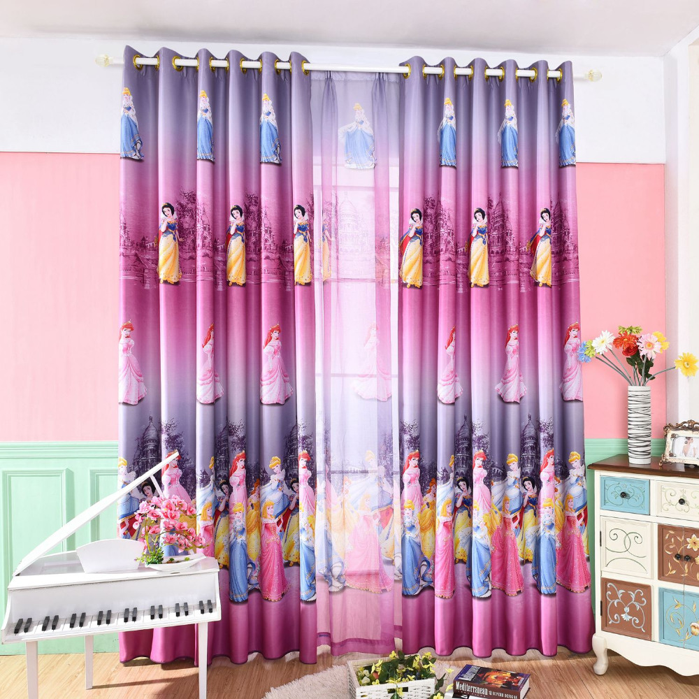 Us 8 0 53 Off Latest Korean Pink Color Dream Princess Design Cartoon Curtains For Kids Girls Living Room Bedroom Shade Cortina Customized Size In