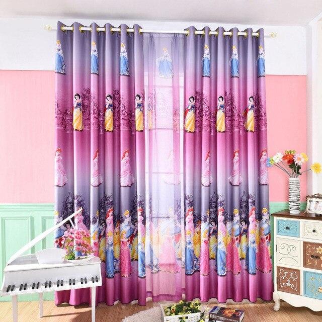 Latest Korean Pink Color Dream Princess Design Cartoon Curtains For ...