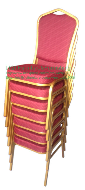 quality cheap strong Stackable iron  banquet chairs LQ-T1030
