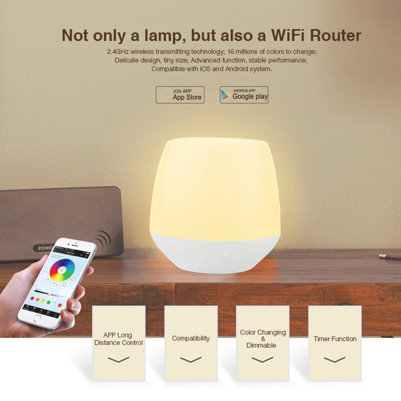2.4G Milight LED WIFI Controller Bedside Lamp 2W Wireless Dimmer For IOS Android Phone App JA55 image