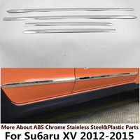 For Subaru XV 2014 2015 Car Styling Cover Detector Stainless Steel Side Door Body Trim Frame