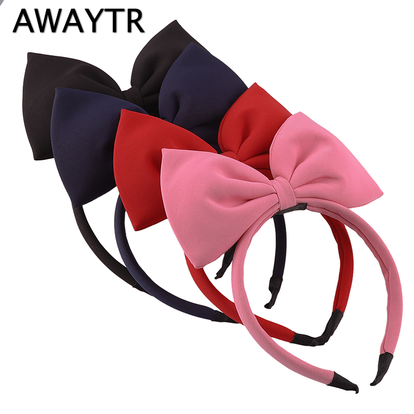 Big Bow Hairband AWAYTR 2019 New Christmas Hair Accessories for Girls Women Headband Large Hair Bow Hair Bands   Headwear