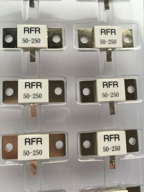 100% NEW High Frequency Resistance RFR50-250 RFR 50-250 RFR-50-250 50 Ohms 250W Dummy Load Resistor