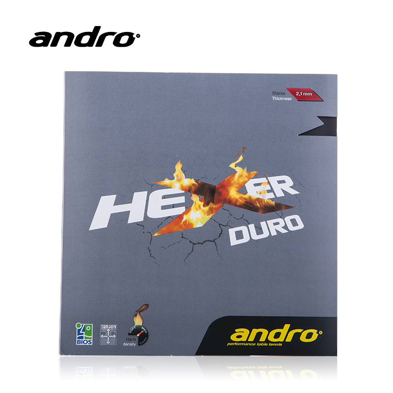 Andro HEXER DURO Pimples In Table Tennis Rubber Pips-In Ping Pong Sponge Tenis De Mesa накладка andro hexer hd