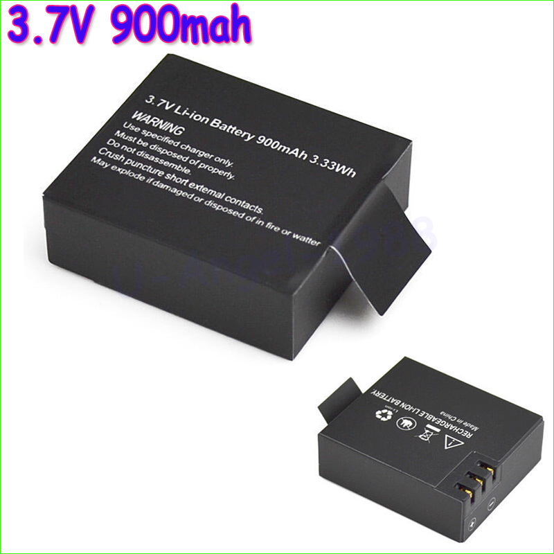 3pcs/lot 3.7V 900mAh Battery Rechargeable Li-ion Spare Batteries Sports Action Camera Accessories For SJ4000/SJ5000/SJ6000 original 1050mah rechargable battery 3 7v li ion battery for sj8000 sj7000s j5000 sj4000 m10 sj5000x sj5000 sport action camera