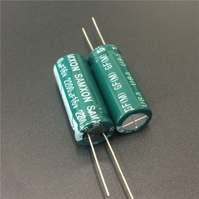 5pcs 2200uF 16V SAMXON GF Series 12.5x30mm Low Impedance Long Life 16V2200uF Aluminum Electrolytic Capacitor