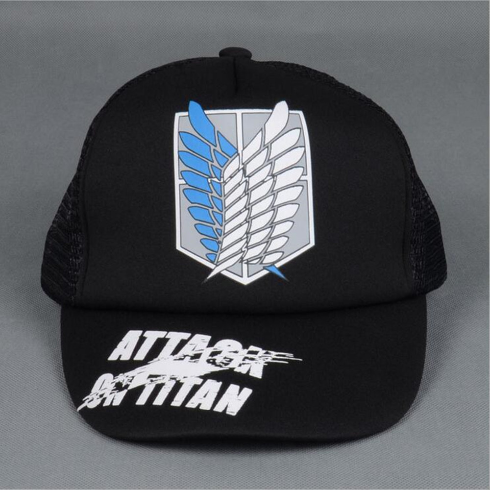 Hot Anime 8 style Attack on Titan Cosplay Cap Wings of Liberty charm Costume Baseball cap Adult Blank Snapback Caps Novelty