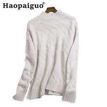 Wool New-coming Autumn Winter Turtleneck Pullovers Sweaters Solid Shirt Long Sleeve Short Korean Slim-fit Tight Sweater Ladies цены