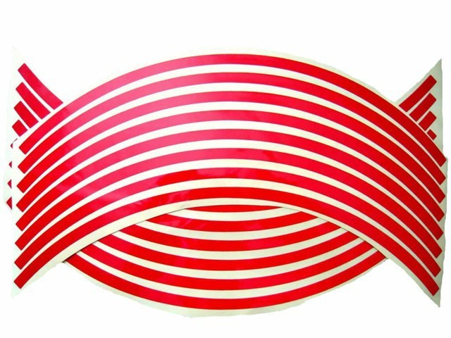 Red  Rim Stripe Decal Tape Sticker For Kawasaki Ninja EX250 250R
