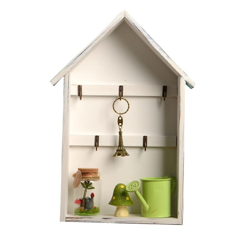 Pastorale ménage décoration boîtes de rangement Pots de fleurs bois support de rangement en bois articles divers clé accrocher Rack en bois boîte de rangement