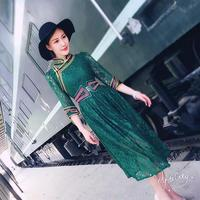 Chinese traditional dress Mongolia traditional dress Lace