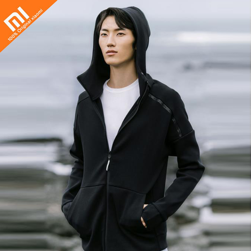 Original xiaomi mijia 90 points double-knit sports hooded sweater men's autumn and winter sweater цена