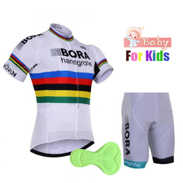 422dce005 2018 Bora Boys Cycling Jersey Set Ropa Ciclismo Cycling Kit for Kids  Breathable Quick Dry Girl Bicycle Clothing Children Jerseys