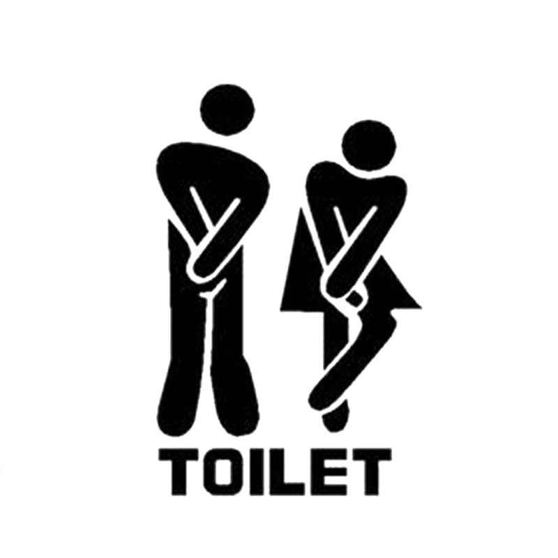 Chất Lượng cao Dán Tường Có Thể Tháo Rời Dễ Thương Người Đàn Ông Người Phụ Nữ Nhà Vệ Sinh Cửa Nhà Vệ Sinh WC Sticker Gia Đình TỰ LÀM Trang Trí Nội Thất Phòng Tắm Sticker Hình Nền