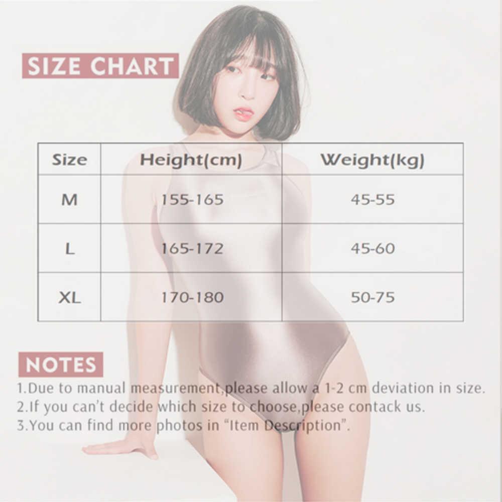 Chuột lang hyrax xu hướng Phụ Nữ Sexy Satin Bóng Quần Đồ Bơi Một Mảnh Cao nĩa thiết kế mỏng nữ Vàng Lụa quần Áo Bơi LEOHEX