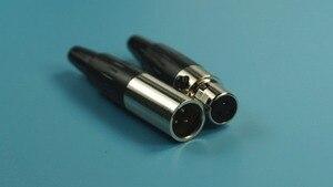 Image 3 - 10 paar Mini XLR 3 Pin Audiokabelconnector Mannelijke Plug & Vrouwelijke Jack 3 Positie Ronde Connector Kabel Klem