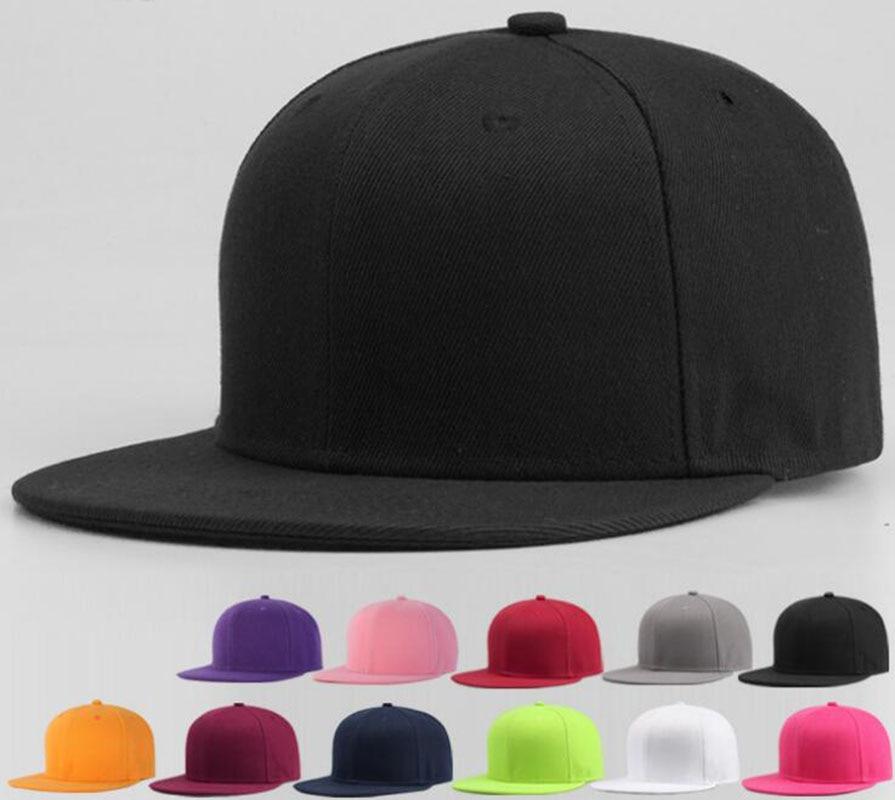 Al por mayor 6 unids hombres en blanco Bill Flat Snap back gorra para  primavera mujeres color sólido verano deporte Snap espaldas béisbol  sombreros 83fe54c7e5a