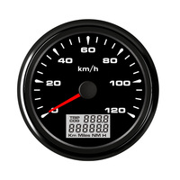 0~120 kmh 85 mm Boat Car GPS Speedometer LCD Display IP67 water proof for Motor Auto Car Yacht 7 color backlight 12V 24V