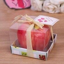Дом в виде красного яблока фруктовые ароматические свечи подарок свадебное украшение день Святого Валентина Рождественская свеча лампа FPing