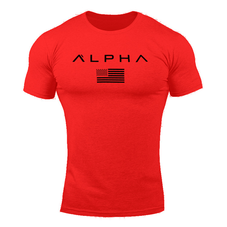 2018 New Brand Summer Mens Gyms Short Sleeve T shirt Fitness Bodybuilding Shirts Print Fashion Male clothing Tee Tops