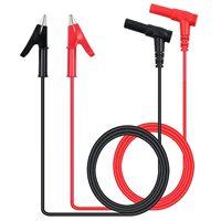 Paar banana Plug Alligator Clip Test Lead Krokodil Clip Lab Test Kabel met Banaan Plug Heavy Duty 1 M lange voor Multimeter