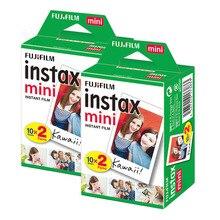 Orijinal Fuji Fujifilm Instax Mini 9 8 Film 40 levhalar 3 inç Film Polaroid 11 7s 8 90 25 70 payı Liplay SP2 anlık kamera