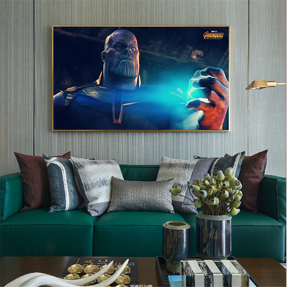 Hulk Poster Thanos Art-Picture Abstract-Painting Marvel Superheroes Thor Large-Size Decoracion