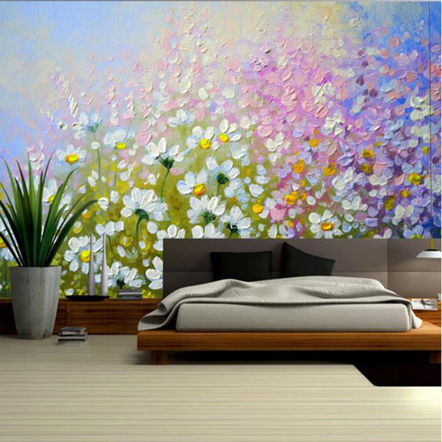 Wallpapers YOUMAN Custom Flowers Oil Floral Wallpaper for Walls Bedroom Wall Decor Ideas Photo Wallpaper for Bedroom Decor Wall