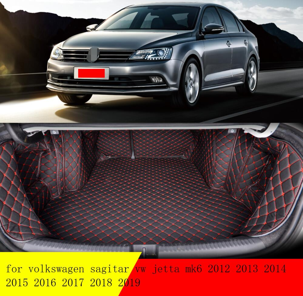 fiber leather car trunk mat for volkswagen sagitar vw jetta mk6 2012 2013 2014 2015 2016 2017 2018 2019 car accessories