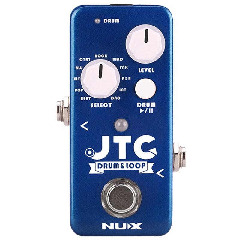 Nouveau NUX Mini Core JTC Guitare Looper Pédale Auto Détection tambour Machine Intégré 11 rythmes de tambour Enregistrement jusqu'à 6 Minutes