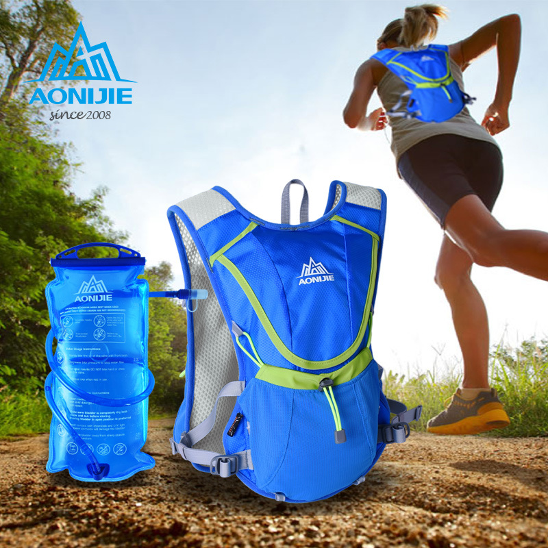 AONIJIE 8L Sports Marathon Lightweight Running Vest Backpack Outdoor Cycling Hiking Bag 3 Colors