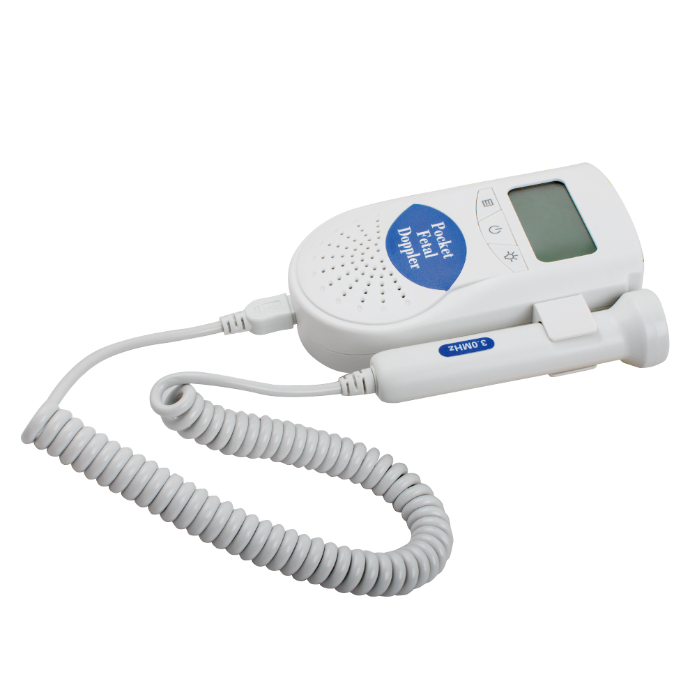 Fetal Heart Doppler 3MHz Probe LCD Pocket Prenatal Heart Baby Sound Fetal Doppler Monitor