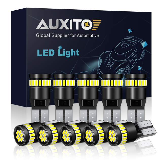 10x W5W T10 LED Canbus Light Bulbs for BMW Audi Mercedes Car Interior Reading Parking Lights White Blue Red Yellow No Error 12V