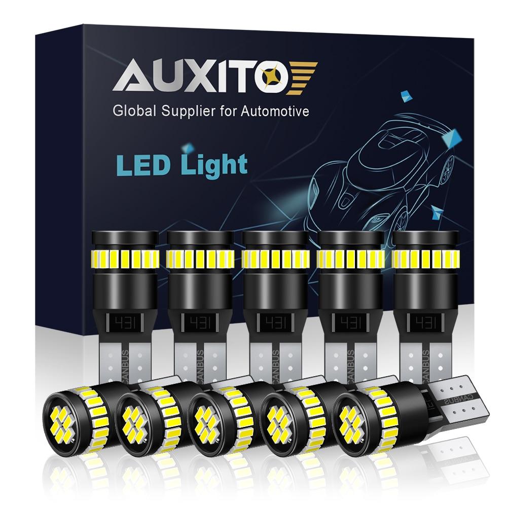 10x W5W T10 фотолампы для BMW Audi Mercedes автомобильные внутренние лампы для чтения стояночные огни белый синий красный желтый без ошибок 12 В