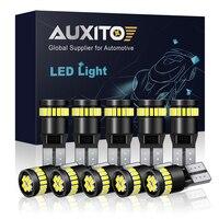 Luz LED Canbus W5W T10 para BMW, Audi y Mercedes, luces de lectura interior, para estacionamiento, blanco, azul, rojo, amarillo, sin error, 12 V, 10 unidades