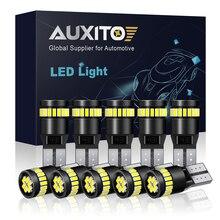 Lâmpadas LED canbus W5W T10 12V 10x, luz interior de leitura e de estacionamento para carro BMW, Audi e Mercedes, em branco azul amarelo vermelho e nenhum erro