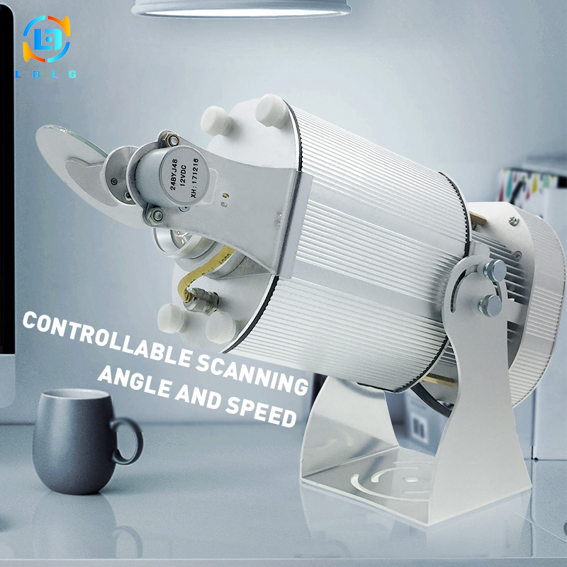 Newest Festival Advertising Silver 40W LED Projector Single Image Linear Scanning Effect 90 To 260V 40W LED Custom GoboProjector