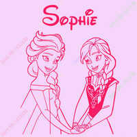 Free Shipping PERSONALISED ELSA & ANNA ,GIRLS VINYL WALL ART DECAL, STICKER