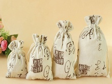 4 Pcs Cotton-fabric Drawstring Jewelry Gift Bag/Pouch (9*12cm)