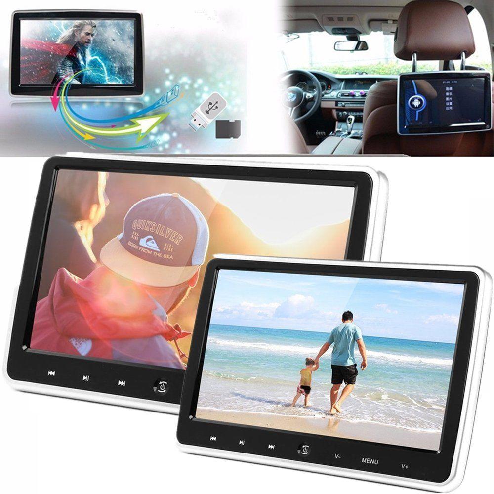 10.1 pouce Ultra-mince Voiture Appui-Tête Lecteur DVD 1024*600 Support Power-off Fonction de Mémoire avec OSD affichage et Télécommande