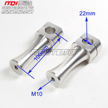 10cm Height CNC 22mm Aluminum Alloy Clamps 7/8″ Handlebar Mounts Riser Clamp for DAX Monkey Bike Motorcycle ATV parts