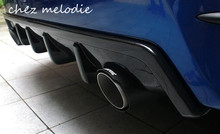 ABS/real carbon fiber Car dual/twopair outlet rear diffuser and exhaust tail pipe, tips For HONDA Civic 10 2016 2017