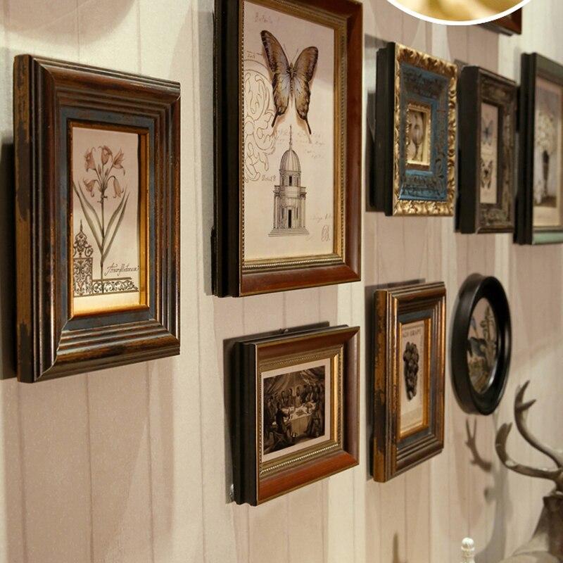 Wooden Photo Frames Vintage Frames For Wall American Retro Frame For ...