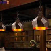 Iwhd гладить Lampen Лофт Стиль промышленных Открытый Подвесные Светильники светильники Гостиная Винтаж лампа Кухня светильники домой Освещени