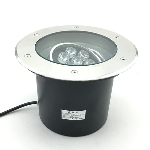 2 pcs lote adjustable7w ip68 dimmable conduziu a lampada subterranea levou ao ar livre