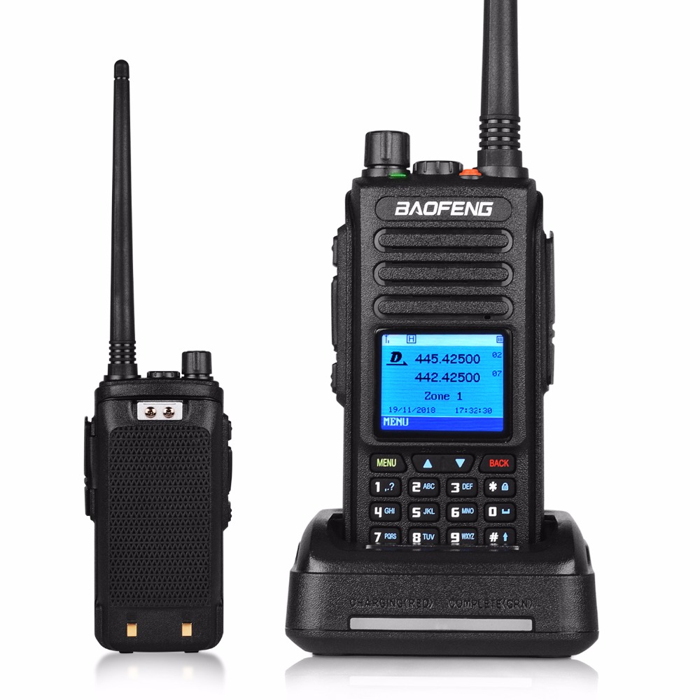 Baofeng Dmr DM-1702 GPS Walkie Talkie Voice Record Vhf Uhf Two Way Radio Dual Band 136-174 & 400-470MHz Digital Ham Radio