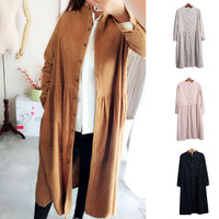 Spring New Thicken Warm Single Breasted Solid Long Trench Coat Fashion OL High Waist Good Quality