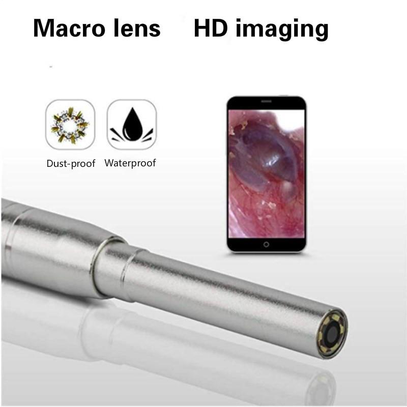 Caméra endoscope otoscope 3.9mm 1 million de pixels HD pour téléphone mobile imagerie visuelle oreille cuillère caméra d'inspection médical et domestique