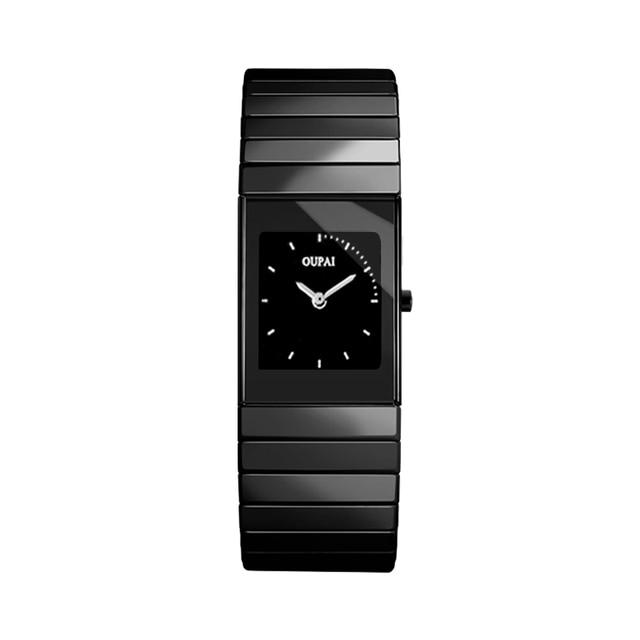 Oupai Керамика наручные часы женские часы маленький циферблат 30 м Водонепроницаемый Hour Clock классический ra80030do
