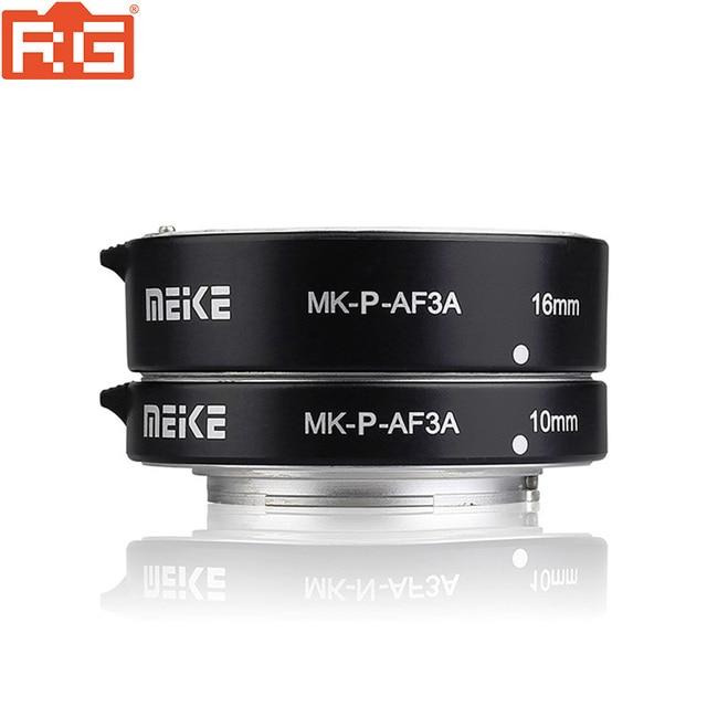 Meike Anillo de tubo de extensión de enfoque automático Macro MK P AF3A AF para cámaras Panasonic Olympus sin espejo